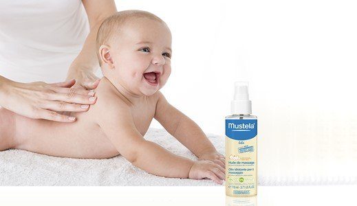 mustela oleo massagem