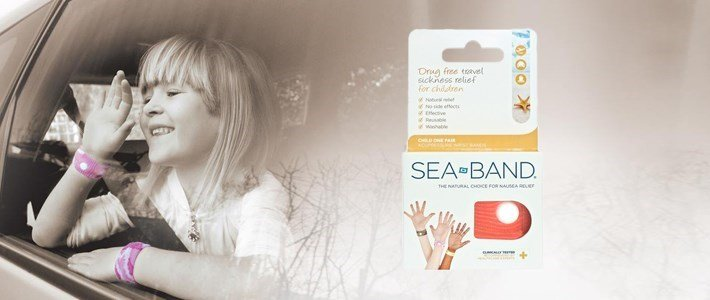 sea band pulseira anti enjoo infantil