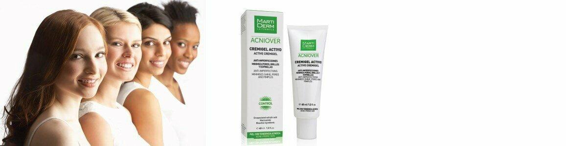martiderm acniover creme gel ativo anti imperfeicoes peles oleosas acneicas