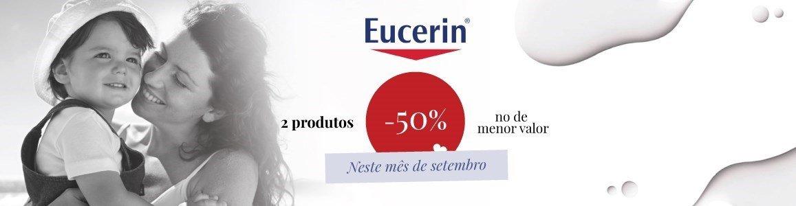 campanha eucerin 50 desconto no menor valor