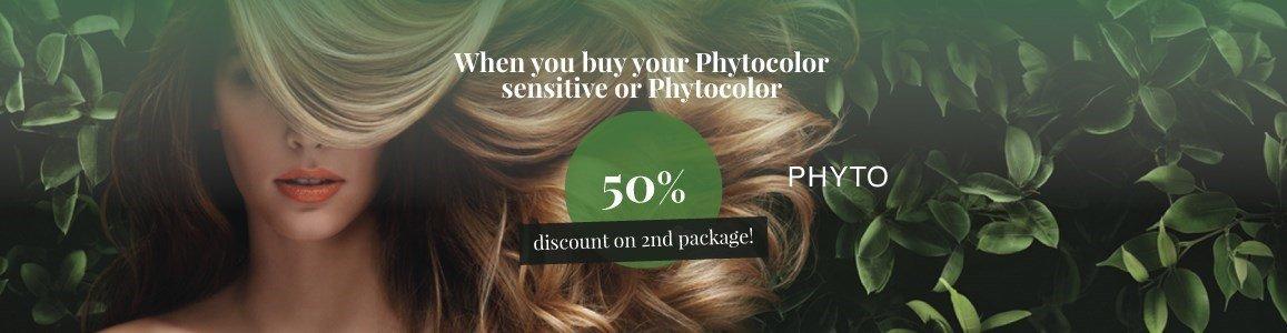 50 desconto na 2 embalagem phytocolor sensitive ou phytocolor en