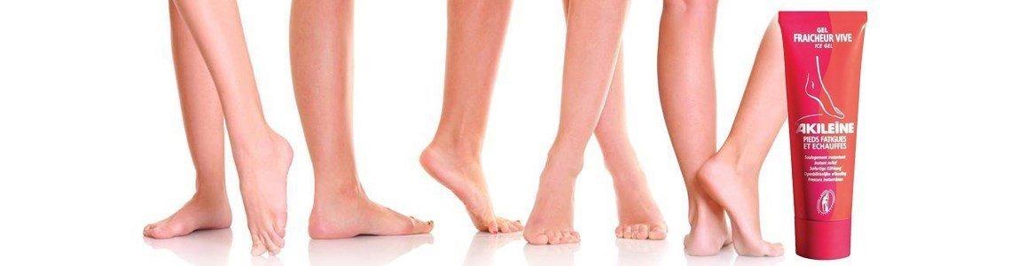 akileine gel frescura viva pernas pes cansados