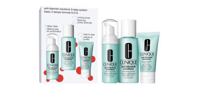 clinique anti blemish solutions kit 3 passos peles acneicas