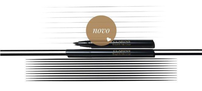 graphik ink liner marcador eyeliner preto clarins