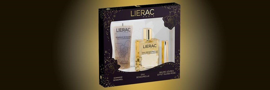 lierac gift set sensorielle 3 white flowers