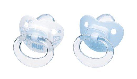 nuk conjunto 2 chupetas baby blue em silicone