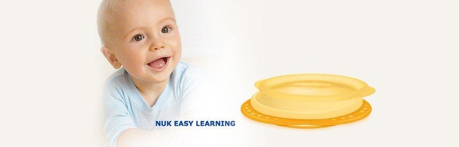 nuk easy learning prato amarelo