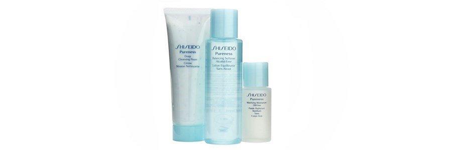 shiseido kit pureness oil control peles oleosas