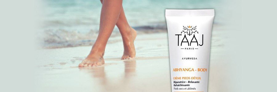 taaj abhyanga creme pieds detox