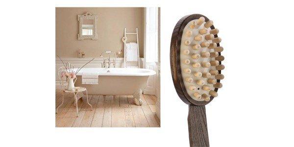 tek escova massagem madeira