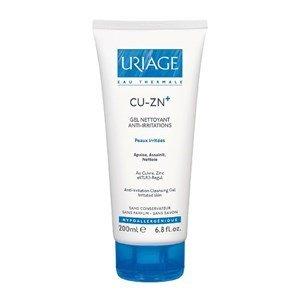 uriage cuzn gel limpeza calmante anti irritacoes