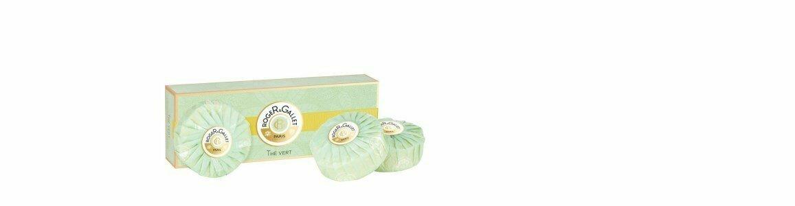 roger gallet vert sabonetes coffret