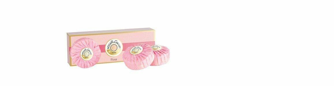 roger gallet rose sabonetes coffret