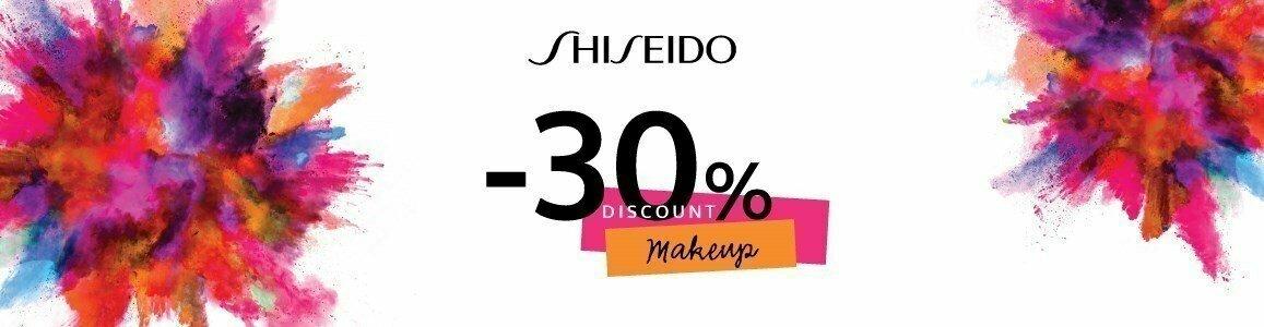 desconto 30 maquilhagem shiseido en