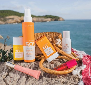 Suncare with Clarins